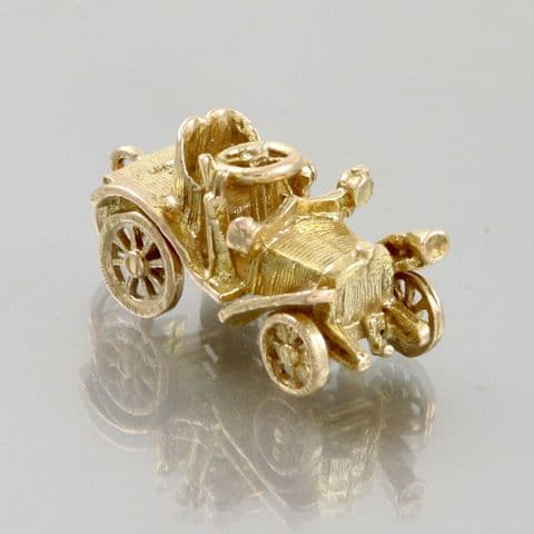 Vintage 9Ct Gold Articulated Car Charm